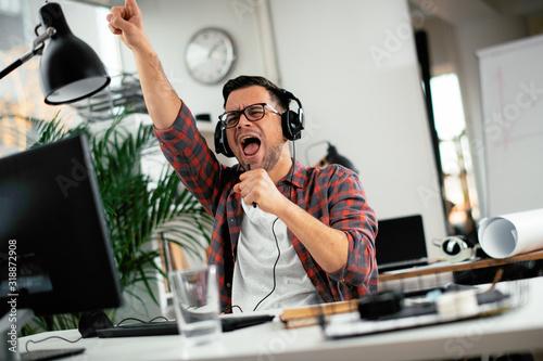 Fotografie, Obraz Attractive businessman in office