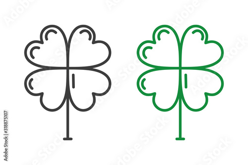 Photographie Four Leaf Clover icon isolated on white background