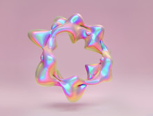 Holographic Foil Abstract Liqu...