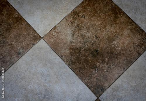 Ceramic tiles flooring - texture of natural ceramic floor Wallpaper Mural