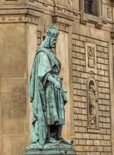 Statue Of Charles IV In Prague