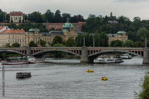 Fotografie, Obraz view of the moldava river in prague