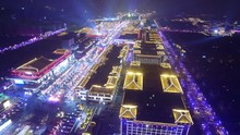 Aerial View Of Lighting Show I...
