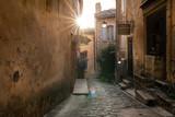 Fototapeta Uliczki - narrow alley in old town