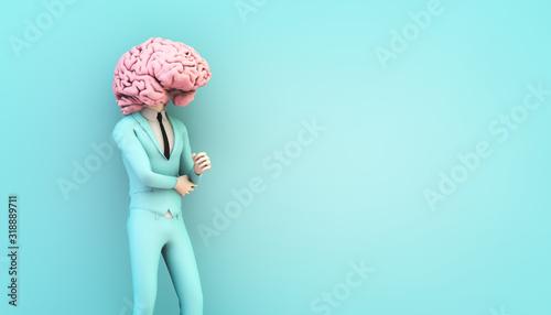 Cuadros en Lienzo businessman with brain head