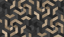 3D Wallpaper Mosaic Of Solid W...