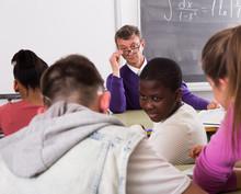 Professor Watching As Student ...
