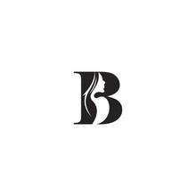 B Beauty Letter Logo Design Template