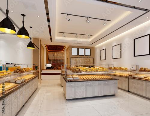 3d render of bakery cafe restaurant Fototapete