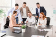 Group of business people during meeting in office