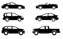 Car Silhouettes Set - Vector
