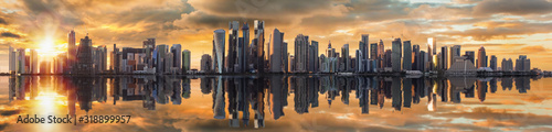 Fotografia PANORAMIC VIEW OF BUILDINGS AGAINST SKY DURING SUNSET