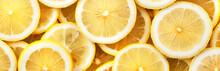 Sliced Lemons. Background And ...