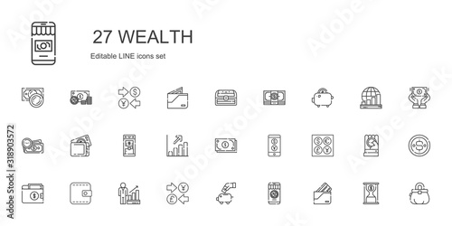wealth icons set