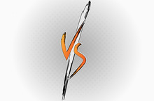 Versus VS Letters Fight Backgr...