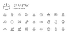 Pastry Icons Set
