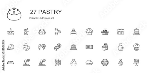 Photographie pastry icons set