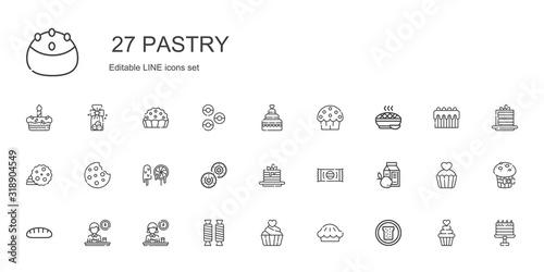 Fotografie, Obraz pastry icons set