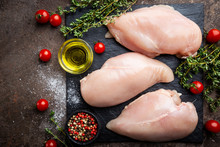 Fresh Raw Chicken Breast With ...