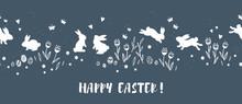 Cute Hand Drawn Easter Horizon...