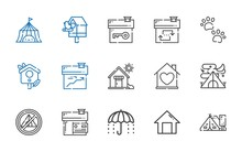 Shelter Icons Set