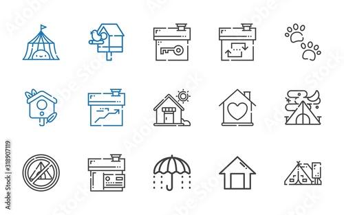 Fotomural shelter icons set