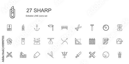 Fototapeta sharp icons set