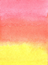 Abstract Watercolor Pink, Red,...