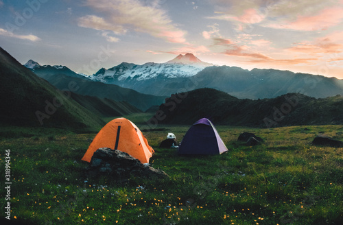 travel in nature. camping and outdoor Fototapeta