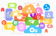 Vector of social media mobile devices icons