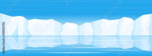 Fotografía winter arctic ice landscape