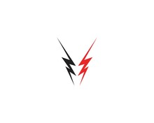 Lightning Flash Icon Logo Vector