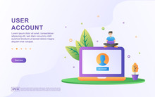 User Account Flat Design Conce...