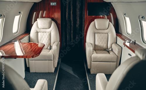 Obraz na plátne Cabin of private jet
