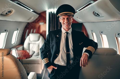 Pilot in private aircraft Tapéta, Fotótapéta