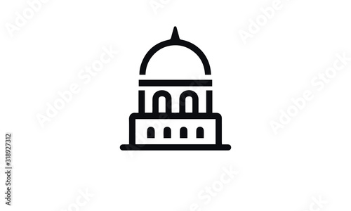 Canvas Print Buildings Icon vector design black and white
