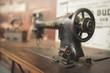 Leinwandbild Motiv Close-Up Of Sewing Machine