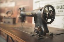 Close-Up Of Sewing Machine