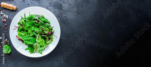 Healthy salad, leaves mix salad (mix micro greens, juicy snack) Canvas Print