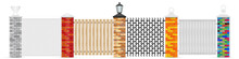 Brick Fence Posts Vector Isola...