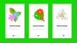 Leinwandbild Motiv Colorful flowers flat vector icon set