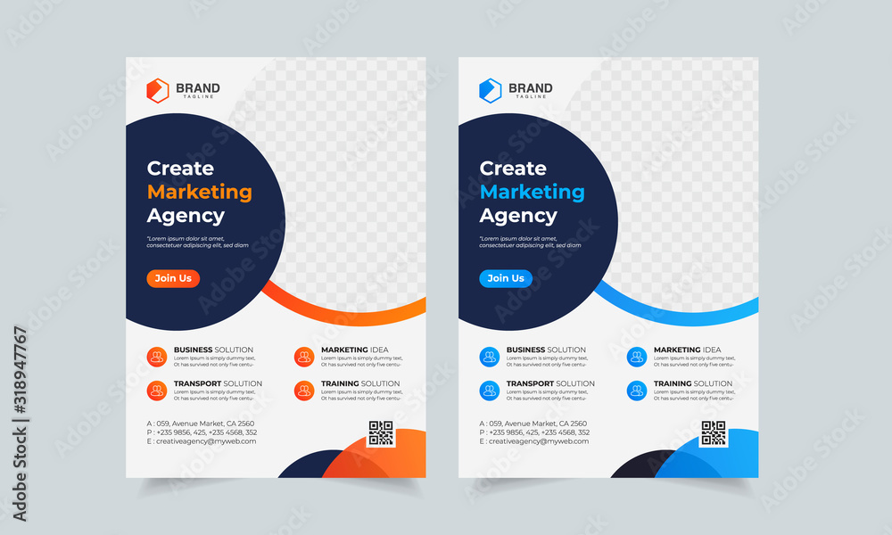 Fototapeta Business Flyer Corporate Flyer Template Geometric shape Flyer Circle Abstract Colorful concepts