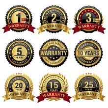 Set Of Warranty Badges And Labels