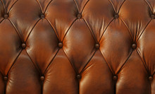 Retro Brown Leather Upholstery