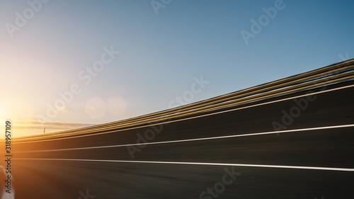 Cuadros en Lienzo Race Car / motorcycle racetrack on a sunny day.