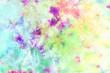 Leinwanddruck Bild - tie dye pattern hand dyed on cotton fabric abstract texture background.