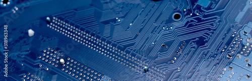 Fotografía Modern printed circuit board, electronic circuit board, textolite