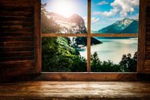 Wooden Window Sill Background ...