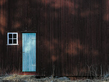 Old Wooden Door On Barn