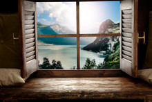 Wooden Window Sill Background ...